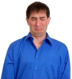 Hombre en la camisa de alineada azul 6 Fotos de archivo libres de regalías