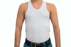 Hombre en la camiseta blanca Imagen de archivo