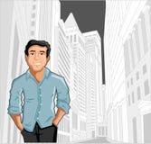 Hombre en la ciudad Fotografía de archivo