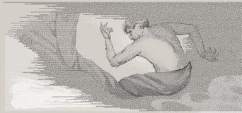 Hombre en la confusión Imagen de archivo