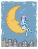 Hombre en la luna Foto de archivo libre de regalías