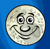 Hombre en la luna que dice la historieta ilustración del vector