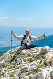 Hombre en la montaña Pirin Imágenes de archivo libres de regalías