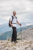 Hombre en la montaña Pirin Fotografía de archivo libre de regalías