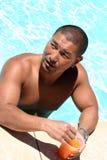 Hombre en la piscina Imagen de archivo