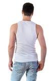 Hombre en maqueta de la camiseta Imagen de archivo libre de regalías