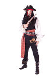 Hombre en mascarada. pirata Fotos de archivo libres de regalías