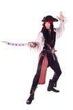 Hombre en mascarada. pirata Foto de archivo