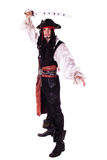 Hombre en mascarada. pirata Imagen de archivo