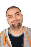Hombre en negrilla de la barba Fotos de archivo libres de regalías