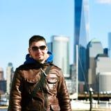 Hombre en New York City Fotos de archivo libres de regalías