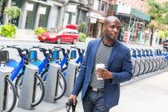 Hombre en Nueva York Imágenes de archivo libres de regalías