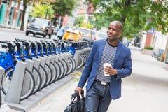 Hombre en Nueva York Fotos de archivo