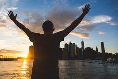 Hombre en Nueva York Imagen de archivo libre de regalías