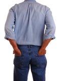 Hombre en pantalones vaqueros fotos de archivo libres de regalías