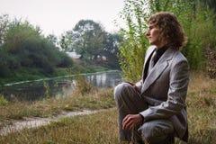 Hombre en parque Fotos de archivo