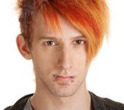 Hombre en pelo anaranjado Fotos de archivo