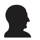 Hombre en perfil stock de ilustración