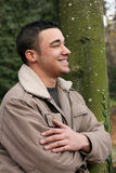 Hombre en perfil Imagenes de archivo
