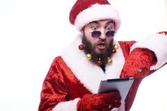 Hombre en Santa Claus Costume fotos de archivo
