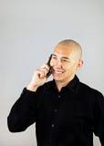 Hombre en Smartphone Imagenes de archivo
