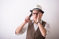 Hombre en sombrero Imágenes de archivo libres de regalías