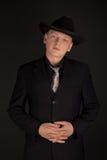 Hombre en sombrero de ala Fotografía de archivo libre de regalías