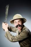 Hombre en sombrero del safari Imagen de archivo libre de regalías