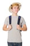 Hombre en sombrero del safari Fotografía de archivo