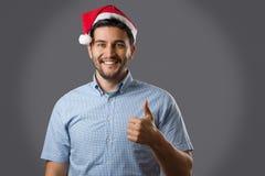 Hombre en sombrero rojo Foto de archivo