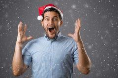Hombre en sombrero rojo Fotografía de archivo libre de regalías