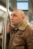 Hombre en subterráneo Fotos de archivo libres de regalías