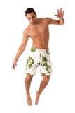 Hombre en traje de baño Imagen de archivo libre de regalías