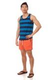 Hombre en traje de baño Foto de archivo