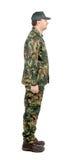 Hombre en traje de los militares. Fotografía de archivo libre de regalías