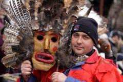 Hombre en traje de mascarada tradicional fotos de archivo libres de regalías