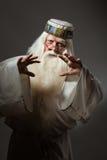 Hombre en traje del hechicero Foto de archivo