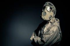Hombre en traje protector Imagenes de archivo