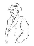 Hombre en trenchcoat ilustración del vector