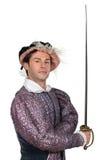 Hombre en TudorCostume Fotos de archivo