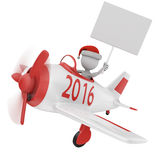 Hombre en un avión Imágenes de archivo libres de regalías