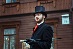 Hombre en un estilo retro Fotografía de archivo libre de regalías
