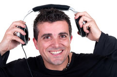 Hombre en un juego que presenta algo Fotografía de archivo libre de regalías