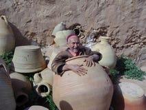 Hombre en un tarro Fotografía de archivo libre de regalías