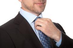 Hombre en un traje y un lazo Imagen de archivo