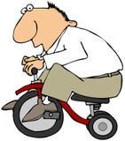 Hombre en un triciclo libre illustration