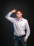 Hombre en una camisa Imagenes de archivo