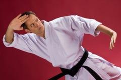 Hombre en uniforme del karate Fotos de archivo