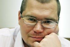 Hombre en vidrios Fotos de archivo