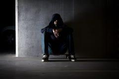 Hombre encapuchado Fotografía de archivo